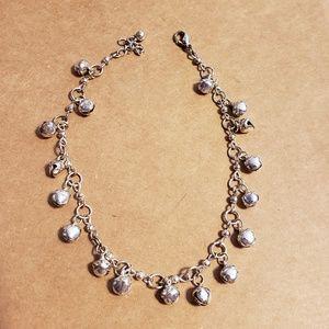 Sterling Silver Dangle Anklet or Bracelet
